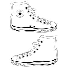 converse outline ❤ liked on Polyvore