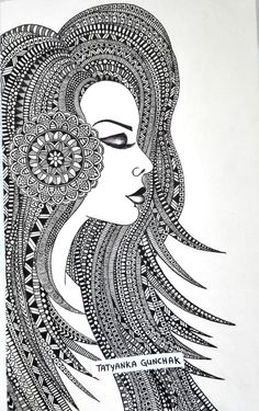 The Simple Mandala Drawing ideas and Designs are used in psychological therapies 'cause powerful vibrations that give the ability to explore the inner self. Doodle Art Drawing, Mandalas Drawing, Zentangle Drawings, Art Drawings Sketches, Doodles Zentangles, Drawing Ideas, Mandala Art Lesson, Mandala Artwork, Madhubani Art