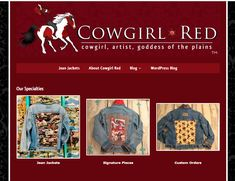 Cowgirl Red- website by #2FriendsDesigns - call or email today! Eugene, Oregon