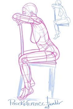 sitting poses reference drawing pose figure chair side gesture body woman base sideways leaning male hand sketching skills