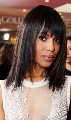 19 Amazing Hairstyles for Long Faces: Blunt Bangs With Straight Hair: Awesome