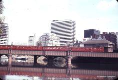 Sandridge Bridge Up Suburban from Port Melbourne Swing Door - 1965