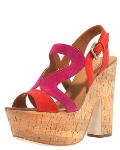 Colorblock Suede Cork Wedge by Ash at Bergdorf Goodman.