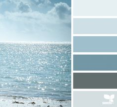 Bedroom Paint Grey Blue Design Seeds Ideas For 2019 Paint Colors For Home, House Colors, Coastal Paint Colors, Blue Paint Colors, Blue Colour Palette, Color Palate, Coastal Decor, Palette Design, Decoration Palette
