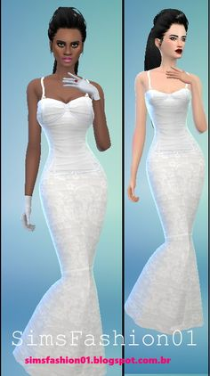 Wedding Dress With Corset at Sims Fashion01 via Sims 4 Updates