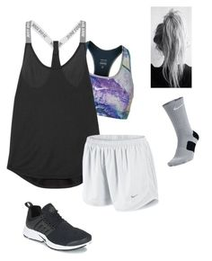 gym . by mallory-d ❤ liked on Polyvore featuring NIKE
