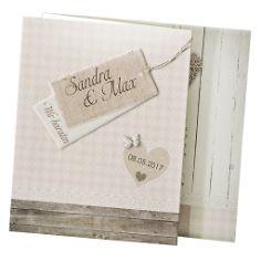 Einladungskarte zur Hochzeit Prisca