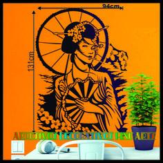 Adesivo Decorativo Gueisha Oriental