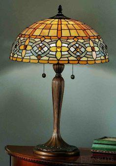 Tiffany+glass | Tiffany glass table lamp Más