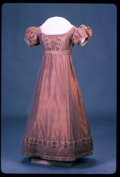 Woman's Brown Empire-Style Gown, c. 1820.  Old Sturbridge Village.