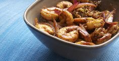 This super-easy seafood dish can go from fridge to table in less than 15 minutes and is sure to satisfy any grumbling stomach. #healthy #recipes http://greatist.com/eat/recipes/zesty-shrimp-and-quinoa