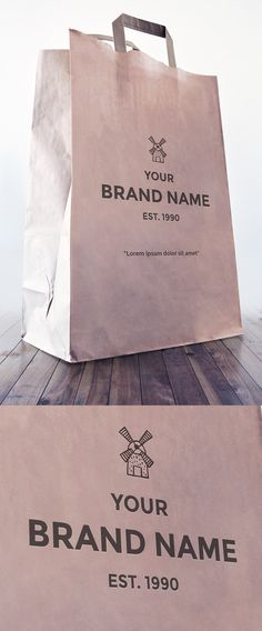 Free Paper Bag Mockup | alienvalley.com | #free #mockup #photoshop Paper Bag Design, Sacs Design, Bag Mockup, Mockup Templates, Presentation Design, Design Tutorials, Branding Design, Design Packaging, Graphic Design