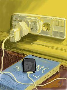 Untitled, 655 (2011) iPad drawing David Hockney