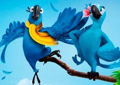 Juegos-Rio.com - Juego: Rompecabezas Pareja Blu y Perla - Puzzles de Rio Online Juegos Gratis Online