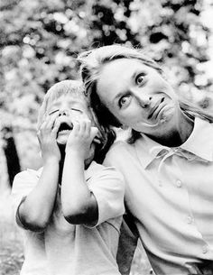 Justin Henry and Meryl Streep