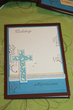 Bely's kreative Stempelideen: Tarjetas de comunión para un niño / Kommunionskart...