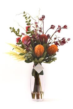 Simple flower arrangements, made out of native Australian flowers.