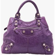 Pre-owned Balenciaga Purple Chevre SGH Brief Tote ($994) ❤ liked on Polyvore featuring bags, handbags, tote bags, purple, pre owned handbags, balenciaga, balenciaga tote, purple tote and purple handbags