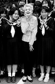 Madonna during the Who's That Girl World Tour '87 in Japan