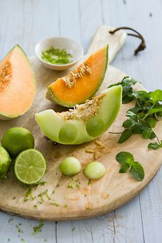 Honeydew Melon and rock melon...Deliciously refreshing in hot weather.