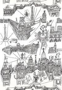 Views of Paris Black / White by F Schumacher