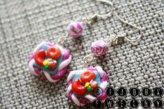 Candy Crush earrings from Bijoux Jewelry. #polymerclay #bijouxjewelry
