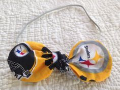 Rounded Edge Steelers Knot Bow by LilacAndMarigold on Etsy https://www.etsy.com/listing/474740840/rounded-edge-steelers-knot-bow