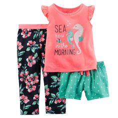 Baby Girl Clothes at Macy's come in a variety of styles and sizes. Shop Baby Girl Clothing at Macy's and find newborn girl clothes, toddler girl clothes, baby dresses and more. Baby Outfits, Toddler Outfits, Kids Outfits, Cute Outfits, Baby Girl Pajamas, Carters Baby Girl, My Baby Girl, Toddler Pajamas, Carters Baby Clothes