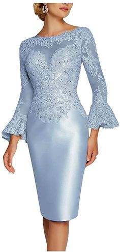 New Deve Mother Of The Bride Dress Tea Length Lace Sheath Women's Dress Pagoda Mother Of Bride Outfits, Mother Of Groom Dresses, Mother Of The Bride, Formal Dresses For Women, Elegant Dresses, Beautiful Dresses, Cocktail Gowns, Evening Cocktail, Bride Gowns