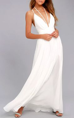 Brilliant Beauty White Maxi Dress @bestmaxidress