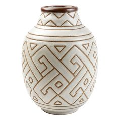 A stoneware vase by Georges Serre | 1stdibs.com