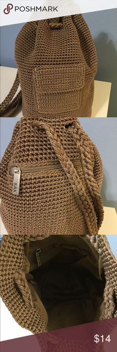 Backpack purse This great bag is from the SAK! Cute cute cute! Only carried a couple of times! The Sak Bags Backpacks