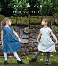 tutorial to sew a fully reversible Roller Skate Dress, featuring Cotton + Steel's new rayon fabric // oliver + s