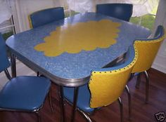 Gorgeous S Laminate Dinette Set This Wont Go In The Kitchen - Chrome and formica dinette sets