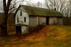 Pennsylvania Dutch Bank Barn (These are actually German.  Deutsch was twisted into Dutch but the Amish speak a dialect of German.)