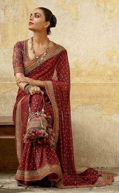 Designer maroon Colore saree party wear saree Indian Women Saree Bollywood Style saree beautiful work saree by AlishafashionStudio on Etsy Bollywood Saree, Bollywood Fashion, Indian Bollywood, Sari Dress, The Dress, Indian Dresses, Indian Outfits, Designer Salwar Kameez, Designer Sarees