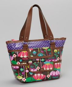 Take a look at this Brown Floral Tote by Lily Bloom on #zulily today! $30 !!