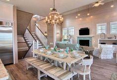 House of Turquoise: Sea La Vie - THAT BENCH!! It's beautiful!! Cinnamon Shore - Port Aransas, Texas