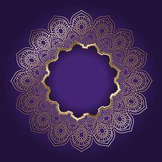 Decorative background with golden mandala frame free vector Indian Wedding Invitation Cards, Wedding Invitation Background, Mandala Pattern, Mandala Design, Wedding Background Images, Luxury Background, Mandala Symbols, Flower Of Life Pattern, Poster Background Design