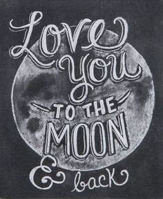 Wood Box Sign Love You to the Moon and Back
