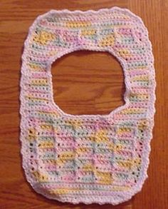 Slipover Baby Bib ~ free pattern