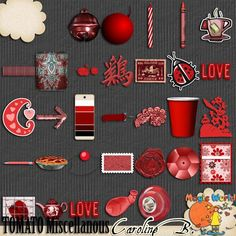 A Tomato Color Series Miscellanous - $2.99 : Caroline B., My Magic World of Digital Design