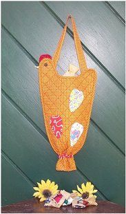 free images to sew bag holders for kitchen | ... bags inside the Kitchen Chicken Plastic Bag Holder and hang in your