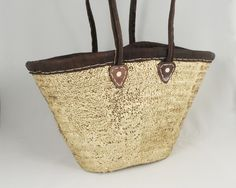 The Everything Basket - One Earth - Handmade Ethically - Morocco - Multi Uses - Diaper Bag, Grocery bag, Gym bag, etc Basket Weaving, Hand Weaving, Alternative To Plastic Bags, We Wear, Satchels, Morocco, Everything, Straw Bag, Gym Bag