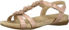 SOUL Naturalizer Women's Alivia Flat Sandal   Comfortable Spring Time Flats Shoes for any outfit and any women Flat Sandals, Gladiator Sandals, Flats, Naturalizer Shoes, Cute Shoes, Stuff To Buy, Spring Time, Outfit, Style