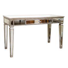 office desk mirror. Perfect Office Antique Silver Mirror Office Desk WPlentiful Storage Space  Standard  Bedroom Furniture Pinterest Desks Desks And Intended