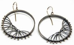 From Mondemade + NIkki Nation: Diagonal Arc Earrings - Large