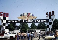 """The famous Indianapolis Motor Speedway, home of the Indy 500. (I've """"been here"""", but only long enough to snap a picture!)"""