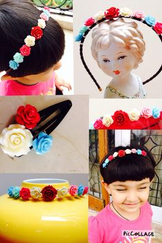 Hairbands and clips for my girl ! Hand made :)
