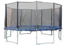 EXACME 16FT 6W LEGS ROUND TRAMPOLINE W/ SAFETY PAD ENCLOSURE NET LADDER COMBO T16 (6180-16ftcombo)